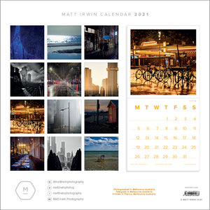 2021 Matt Irwin Calendar - Made in Melbourne