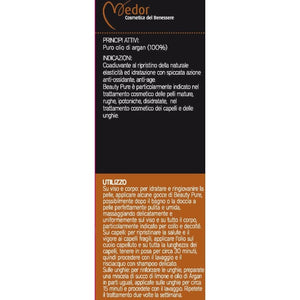 Olio di Argan puro 100% Biologico Medor Beauty Pure - Cosmetico