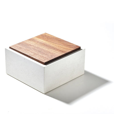 Square 6 x 6 Box with Walnut Lid - Everything But The Plant