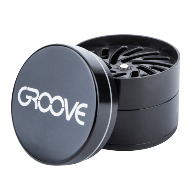 "4 Piece CNC Groove Grinder/Sifter 2.5"" (63mm) - Everything But The Plant"