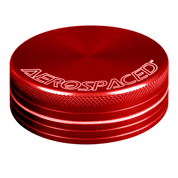 "2 PIECE AEROSPACED GRINDERS/SIFTERS 1.6"" (40mm) RED - Everything But The Plant"