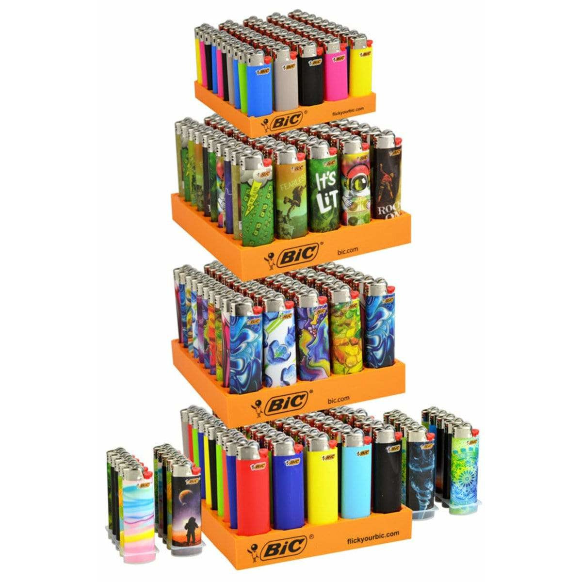 BIC - 4 Tier Refill w 20 Free SE - 220 Lighters - Everything But The Plant
