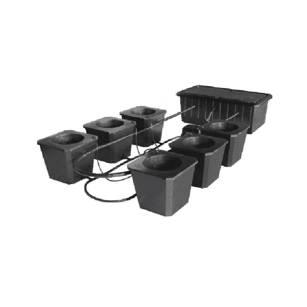 6 Site Bubble Flow Bucket Grow System - Everything But The Plant