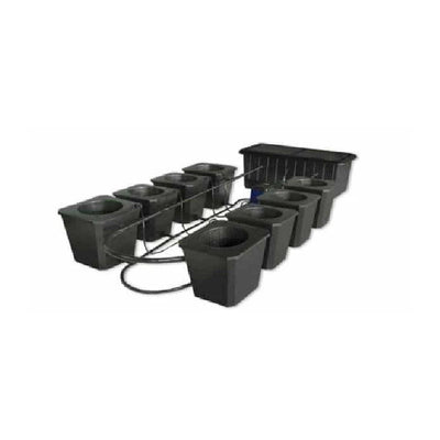 8 Site Bubble Flow Bucket Grow System - Everything But The Plant