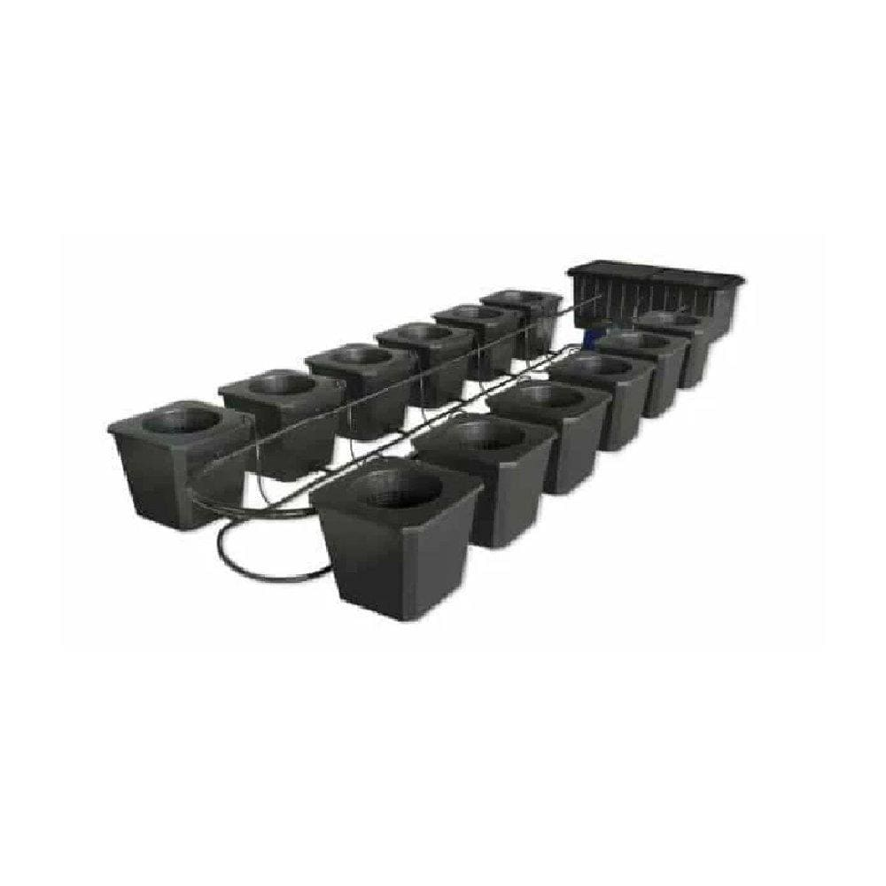12 Site Bubble Flow Bucket Grow System - Everything But The Plant