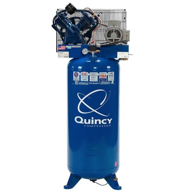 Complete Quincy Piston 60 Gallon Air Compressor Package - Everything But The Plant