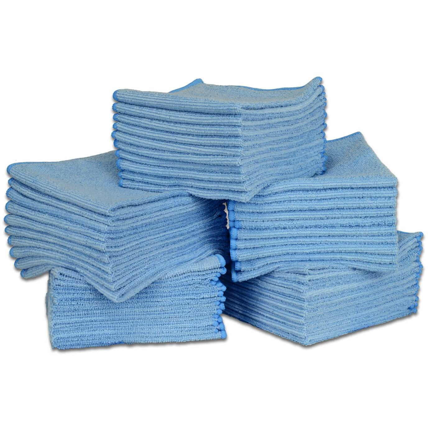 "12"" x 12"" Economy All Purpose Microfiber Towels - 50 Pack - Everything But The Plant"