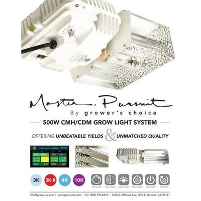 Grower's Choice Master Pursuit CMH Fixture with 500W CMH Lamp - Everything But The Plant