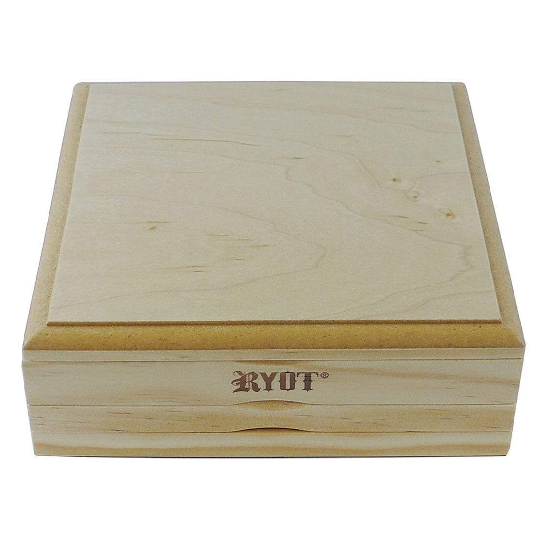 Dual Screen Solid Top Box in Natural Finish (7x7) - Everything But The Plant