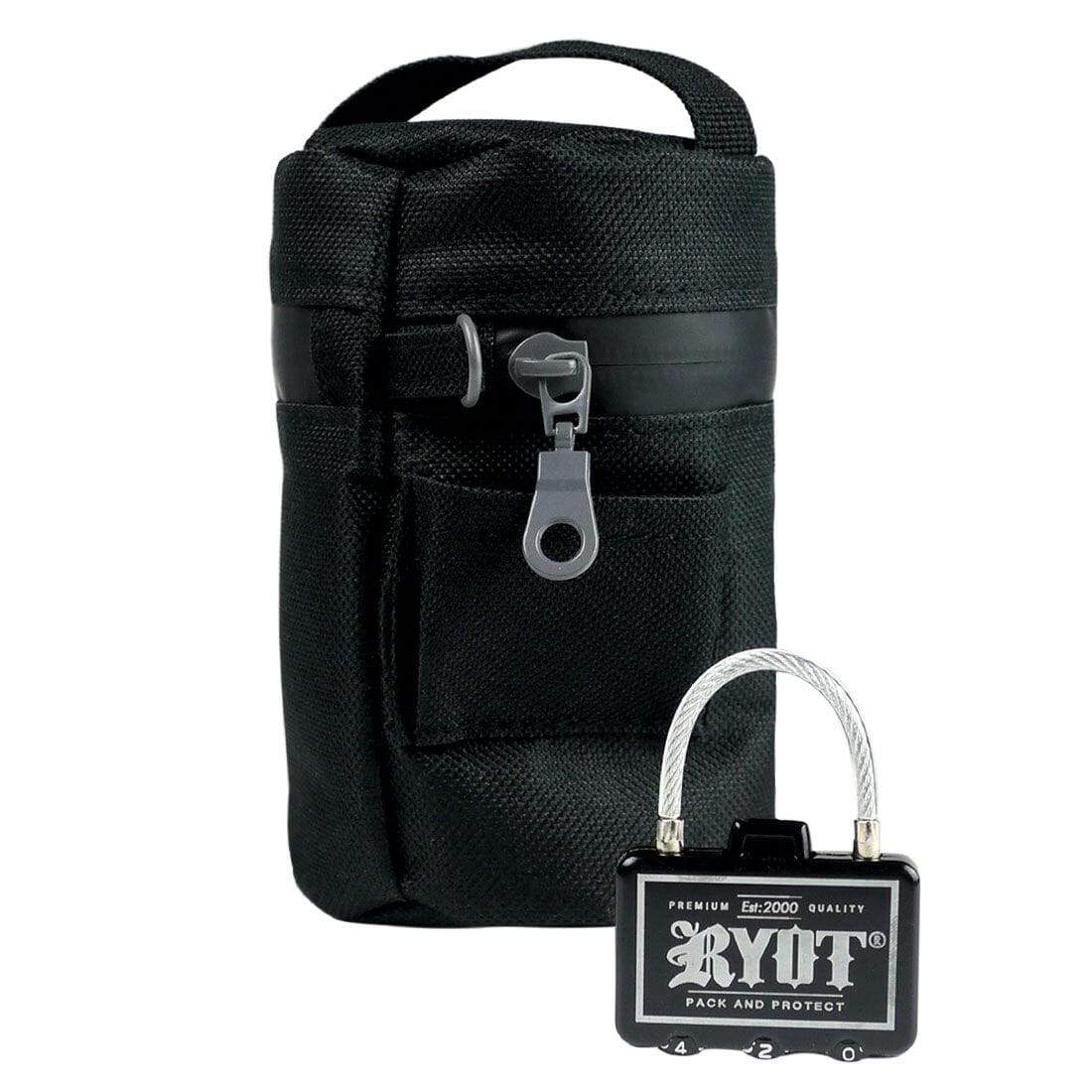 Jar Cooler Bag in Black with Lock - Everything But The Plant