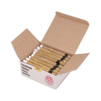1 Gram Pre-Rolled Tendu Leaf Blunt Wraps - Natural Toasted Palm Leaf Wrap [50 per box] by Custom Cones USA - Everything But The Plant