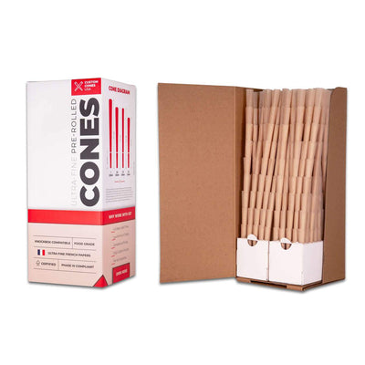98mm Pre-Rolled Cones - Unrefined Brown [800 Cones per Box] by Custom Cones USA - Everything But The Plant
