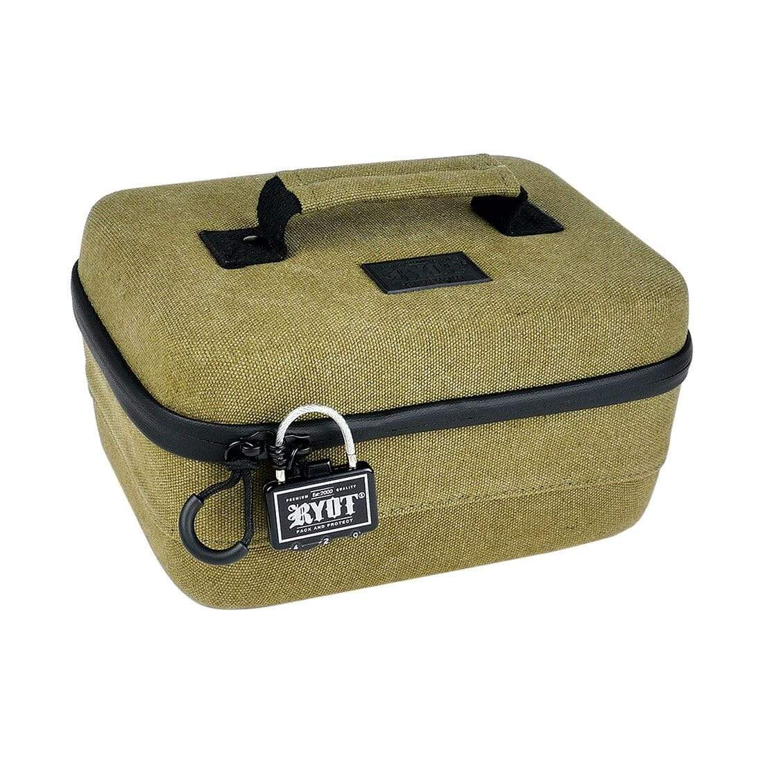 Safe Case with SmellSafe Technology in Olive with Lock (Large 4.0L)