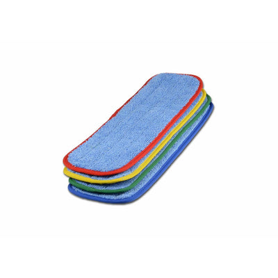 "18"" Color-Coded Microfiber Wet Mop Pads - 3 Pack - Everything But The Plant"