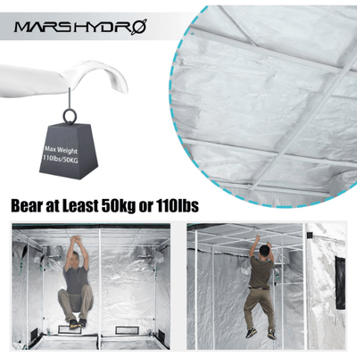 Indoor Grow Tent 48''X48''X80''- (120x120x200cm) - Everything But The Plant