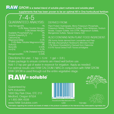 RAW GROW: all-in-one - Everything But The Plant