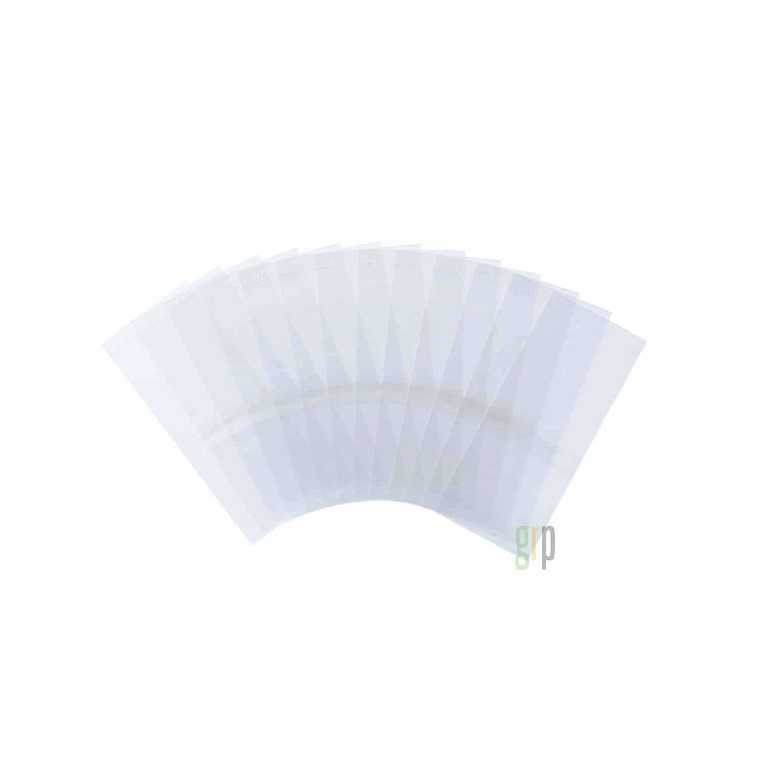 30/60 Dram Clear Tamper Evident Bands  (250 QTY)