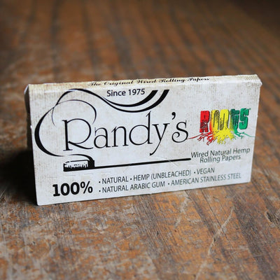 Randy's - Wired Rolling Papers - Roots - Organic Hemp - Classic - 77mm  24 Papers Per Pack 25 Packs Per Box - Everything But The Plant
