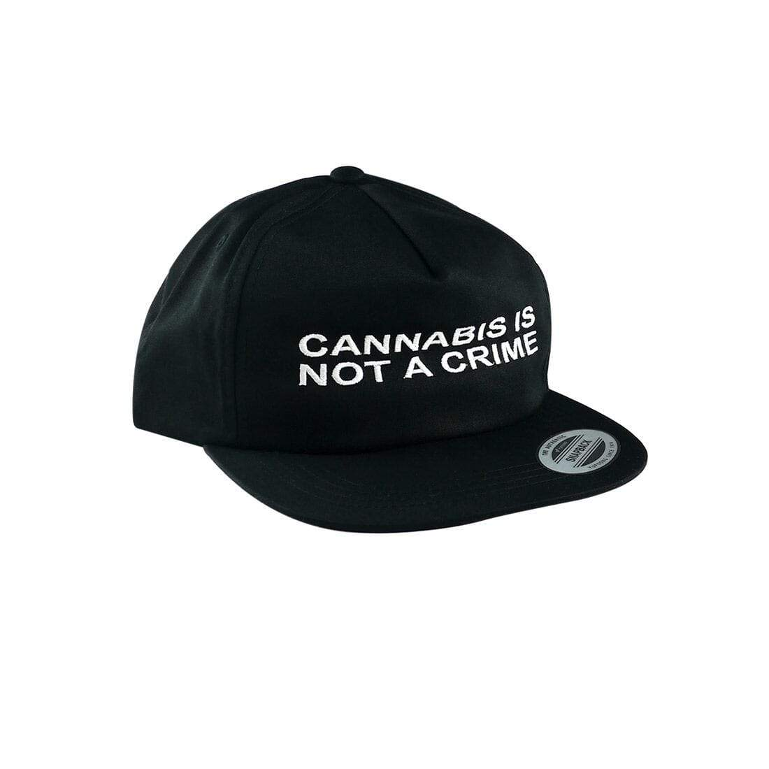 """Not a Crime"" Unconstructed Hat in Black"