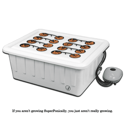 Superponic 16 Site Hydroponic Grow System - Everything But The Plant