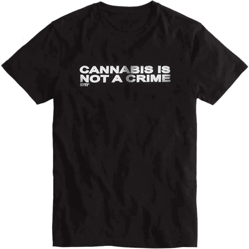 """Not a Crime"" T-Shirt in Black"
