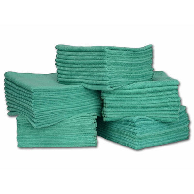 "16"" x 16"" Economy All Purpose Microfiber Towels - 50 Pack - Everything But The Plant"