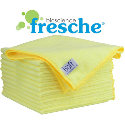 "16""x16"" Buff™ Pro Antimicrobial Microfiber Towel with Fresche® - 12 Pack - Everything But The Plant"