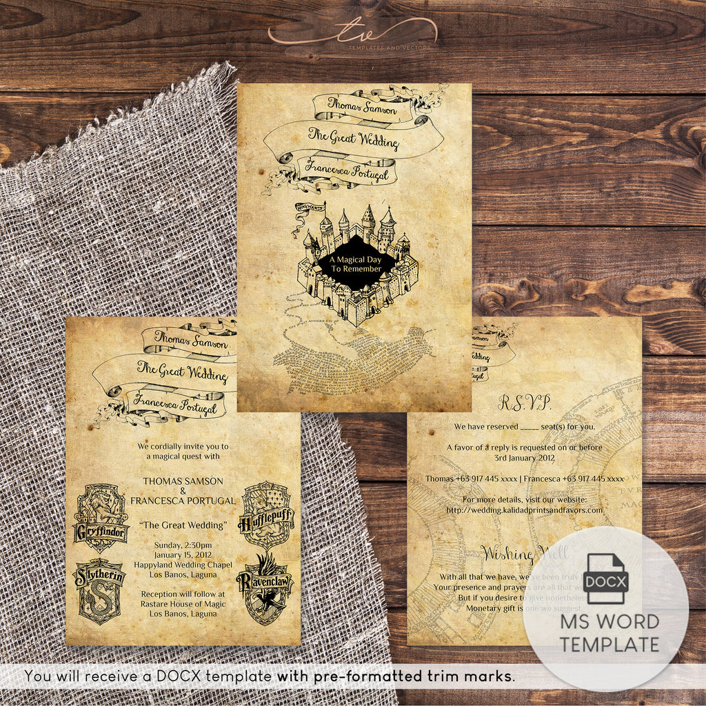 TVW042 Harry Potter Wedding Suite Template