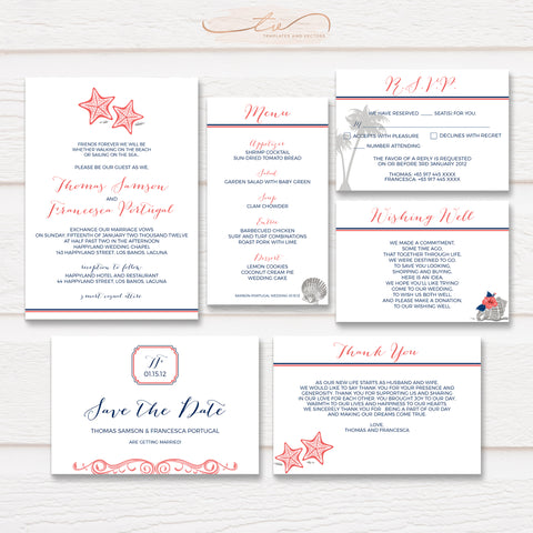 TVW065 Tropical Beach Wedding Suite Template