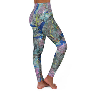 """Leopard In Pink"" High Waisted Yoga Leggings XS-2XL - David Austin Gallery"
