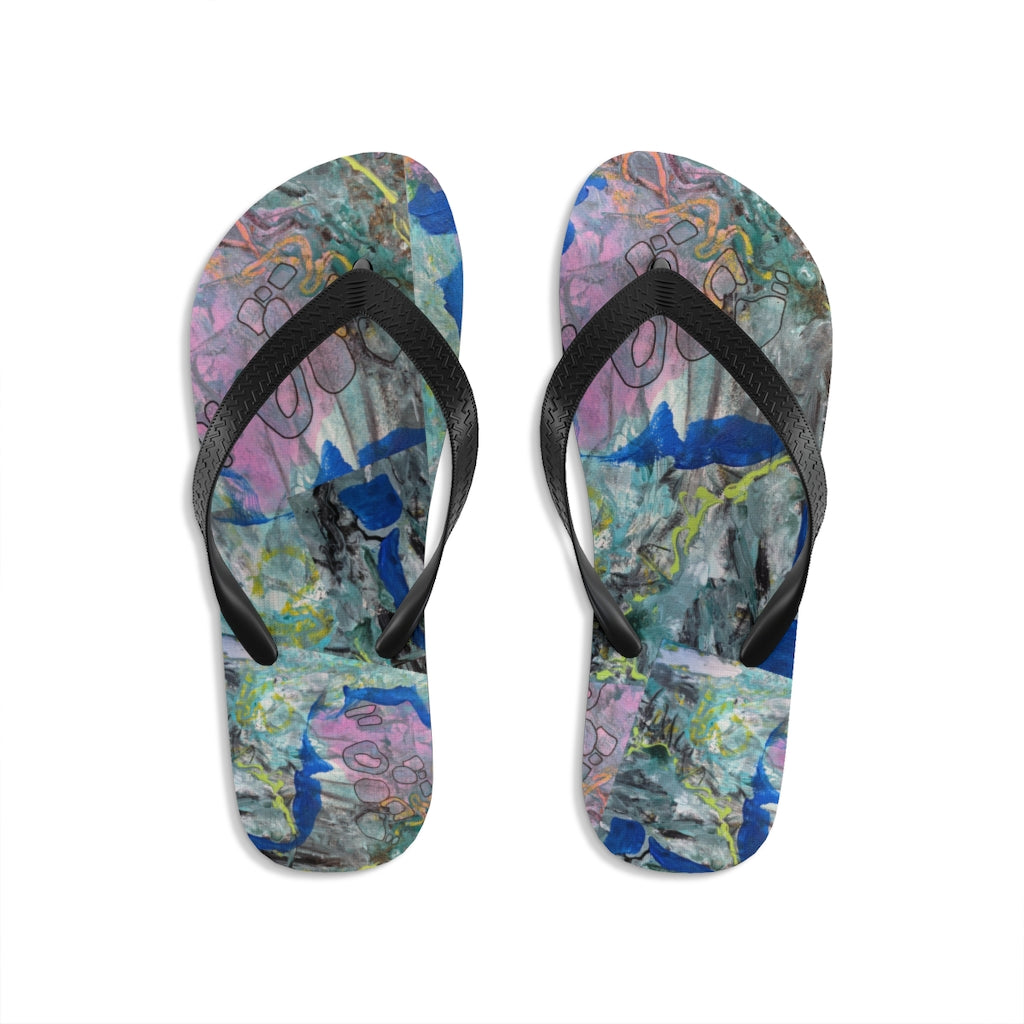 """Imagination Blooms"" Unisex Flip-Flops - David Austin Gallery"