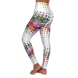 A Collage In Pieces High Waisted Yoga Leggings - David Austin Gallery