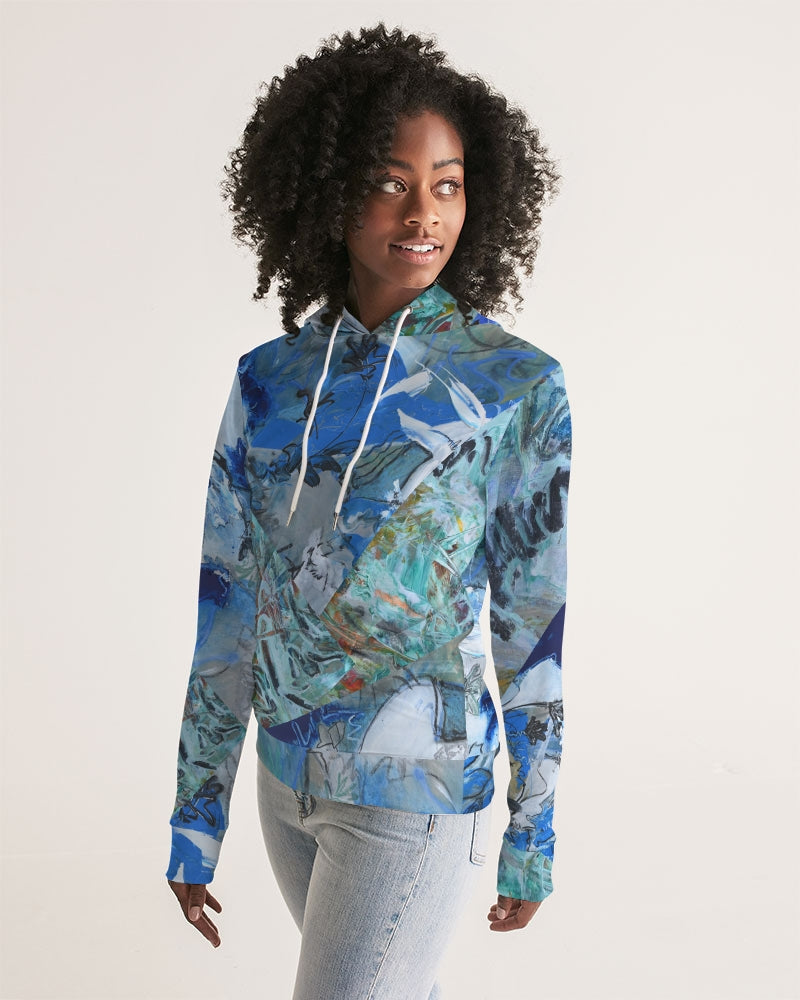 """Teal"" Women's Hoodie - David Austin Gallery"