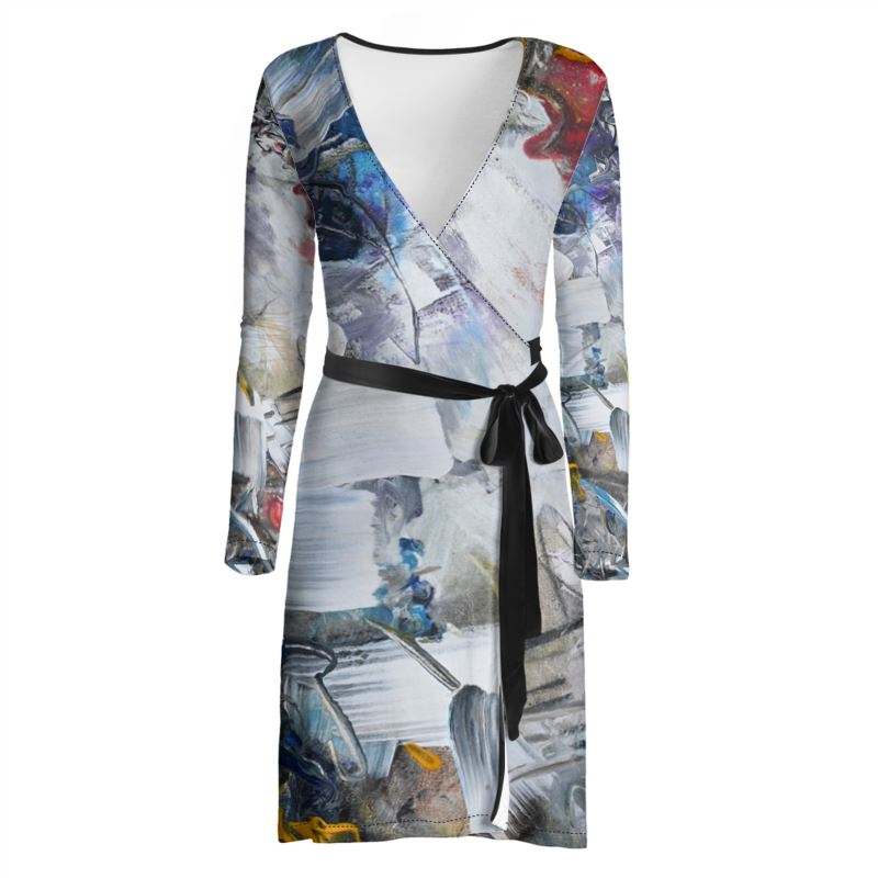 """Another Swing"" Wrap Dress - David Austin Gallery"