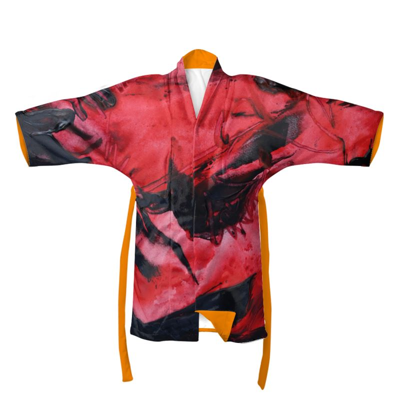 """Lava Cooling"" Kimono Featuring Art by David K. Austin - David Austin Gallery"