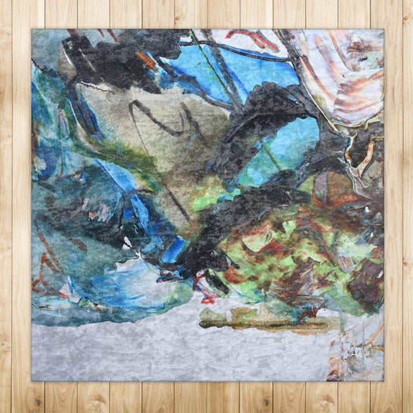 """Abalone"" Crushed Velvet Sheen Rug by David K. Austin Premium - David Austin Gallery"