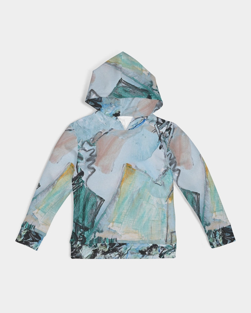 Teal Mountains Kids Hoodie - David Austin Gallery