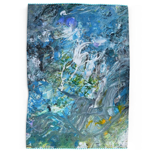 Day At The Beach Kitchen Towel - David Austin Gallery