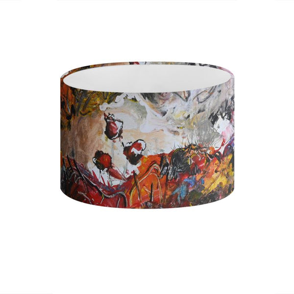 """Poppies By The Cabin"" Drum Lamp Shade - David Austin Gallery"