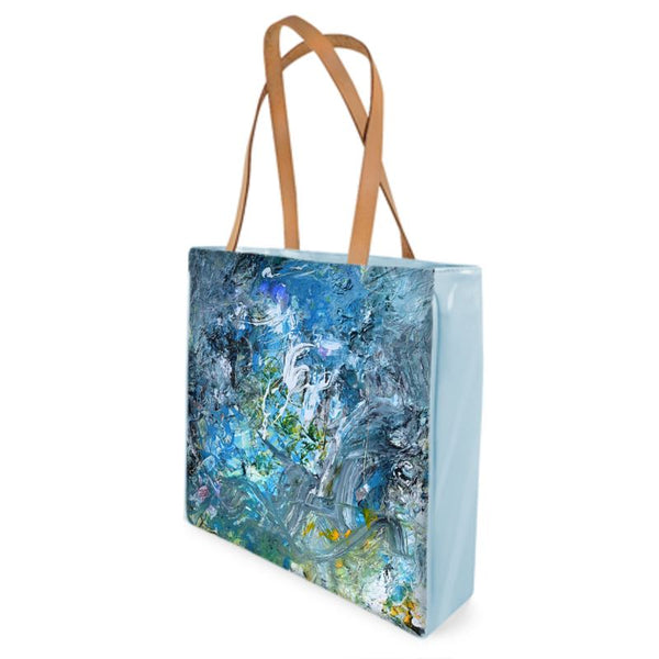 """Lake"" Leather Bag Tote - David Austin Gallery"