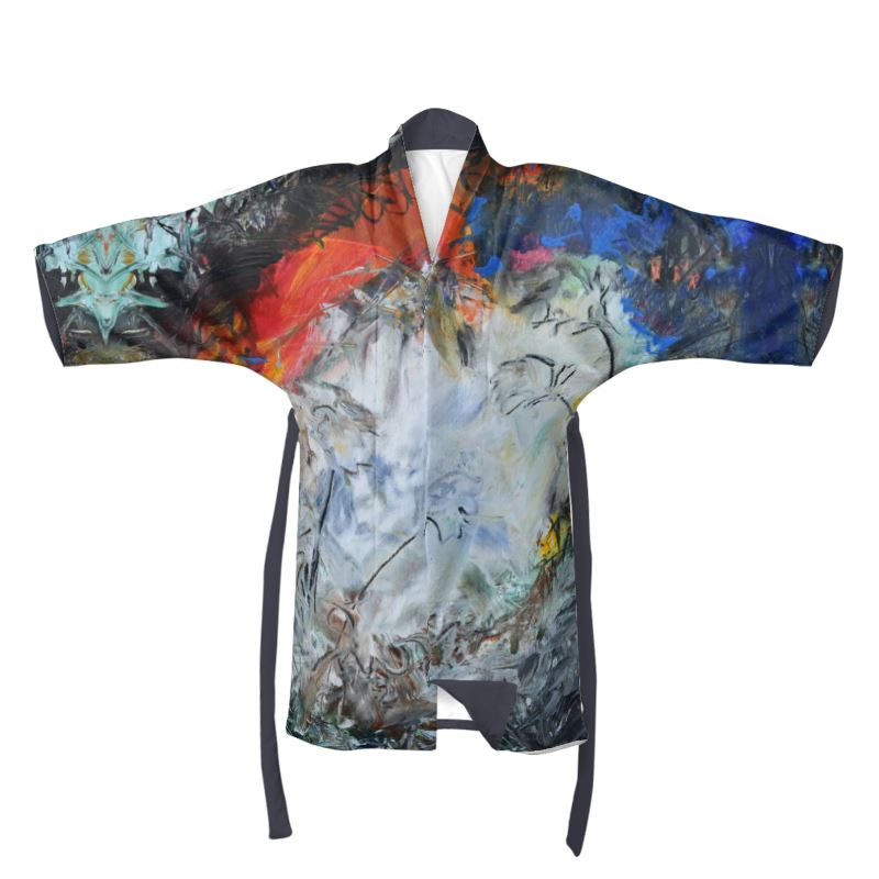 """Portal Into Light"" Kimono Featuring David K. Austin Original Art - David Austin Gallery"