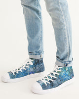 """Day At The Beach"" Men's Hightop Canvas Shoe - David Austin Gallery"