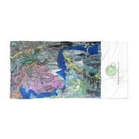 """Imagination Blooms"" Beach Towel - David Austin Gallery"