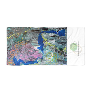 "Open image in slideshow, ""Imagination Blooms"" Beach Towel - David Austin Gallery"