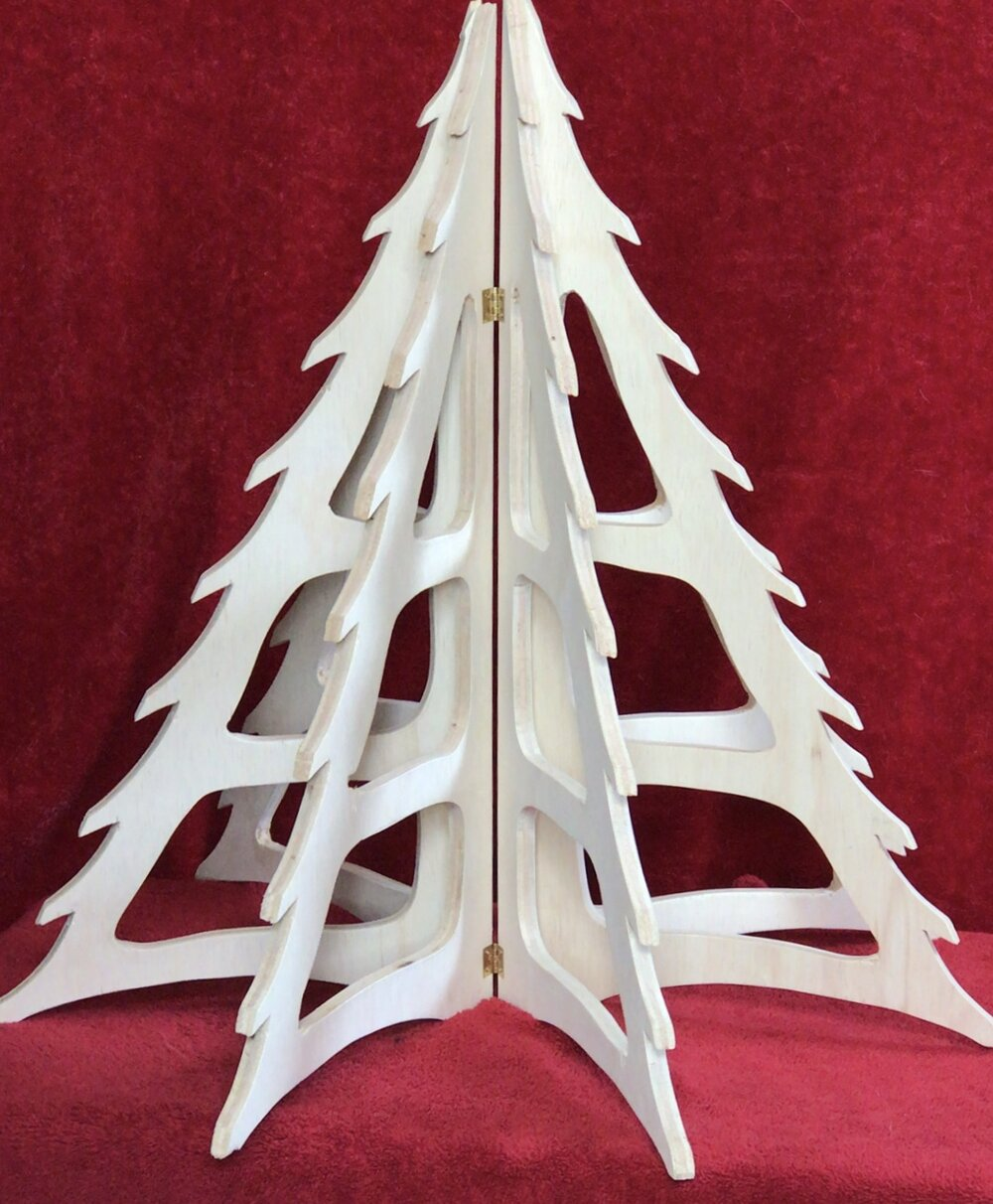 Flat Pack Christmas Tree Birch Plywood - David Austin Gallery