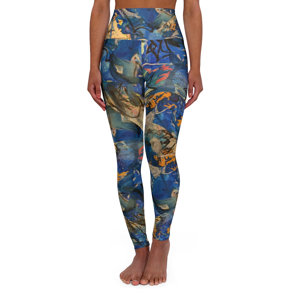 """Imagination Runs"" High Waisted Yoga Leggings XS-2XL - David Austin Gallery"