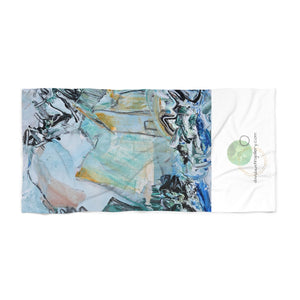 "Open image in slideshow, ""Teal Mountains"" Beach Towel - David Austin Gallery"