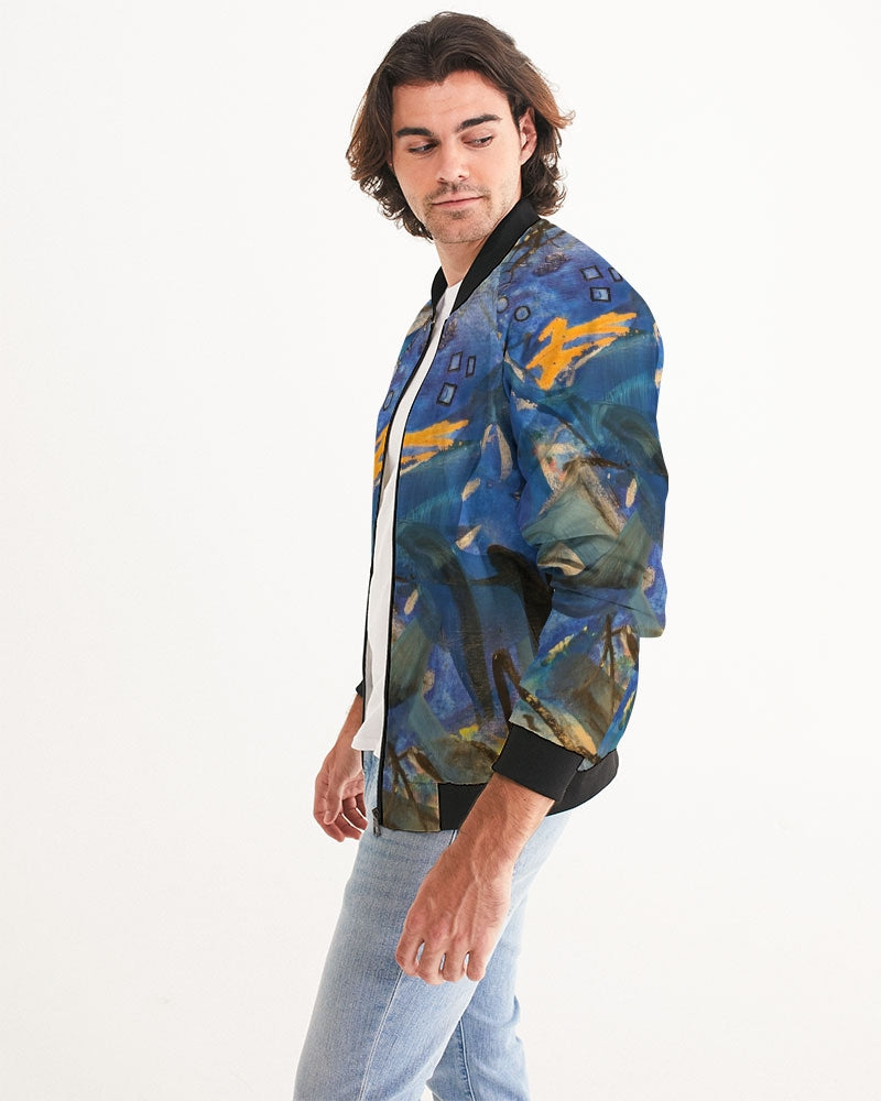 """Imagination Runs"" Men's Bomber Jacket - David Austin Gallery"