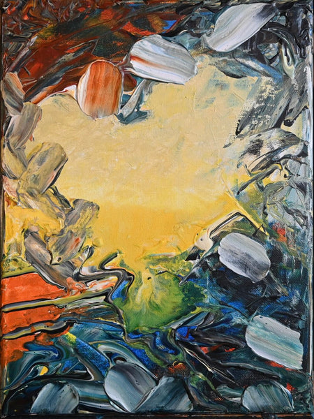 Abstract Pond Landscape Painting #1 by David K. Austin - David Austin Gallery