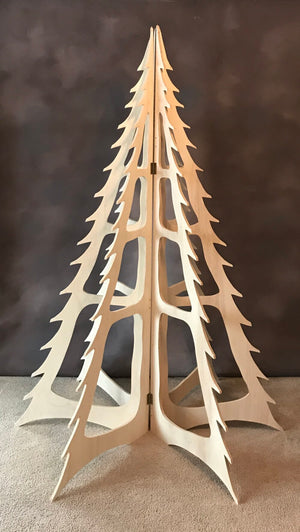 Open image in slideshow, Flat Pack Christmas Tree Birch Plywood - David Austin Gallery
